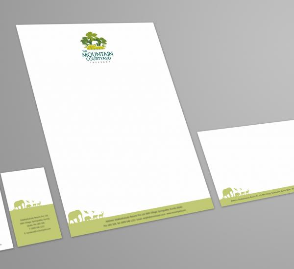 Mountain Courtyard Logo and Stationery